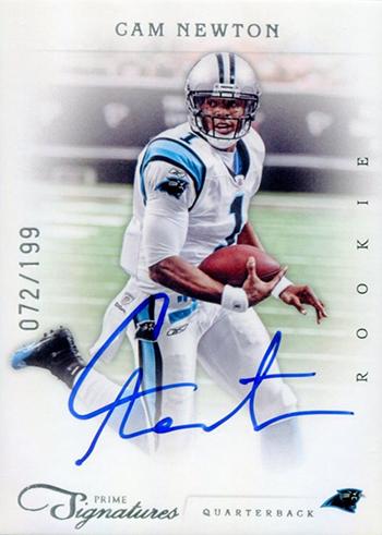 2011 Prime Signatures Cam Newton Rookie Card