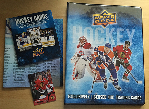 2015 16 upper deck hockey binder package