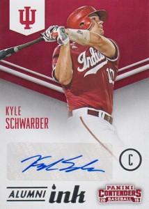 2015 Panini Contenders Baseball Alumni Ink Kyle Schwarber