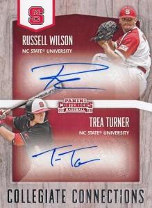 2015 Panini Contenders Baseball Collegiate Connections Signatures