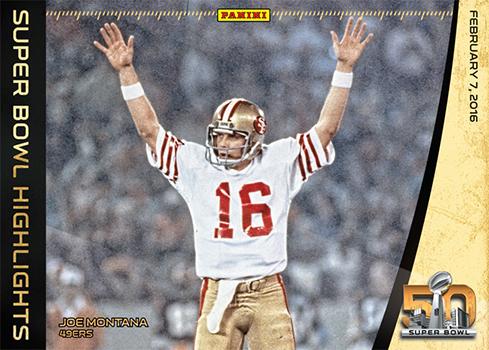 2015 Panini Super Bowl Highlights Joe Montana Oversized