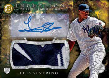 2016 Bowman Inception Baseball Autograph Jumbo Patch