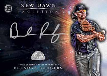 2016 Bowman Inception Baseball New Dawn Autographs