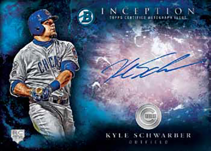 2016 Bowman Inception Baseball Rookie Autograph Blue