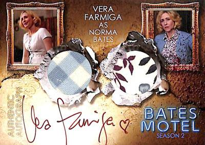2016 Breygent Bates Motel Seasons 1 and 2 Comic Con SE Autographed Costume Norma Bates Dual