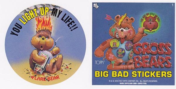 2016 Garbage Pail Kids Apple Pie Gross Bears Flare Bear