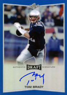 2016 Leaf Metal Football Tom Brady Autograph Blue