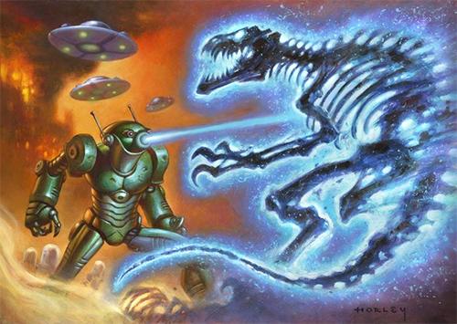 2016 Mars Attacks Occupation DInosaurs Attacks
