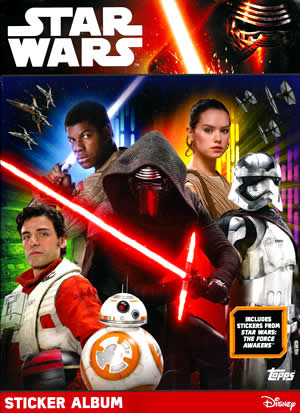2016 Star Wars Force Awakens Stickers Album