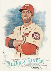 2016 Topps Allen and Ginter Baseball Base