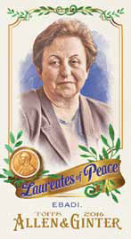 2016 Topps Allen and Ginter Baseball Laureates of Peace