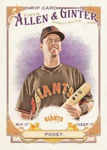 2016 Topps Allen and Ginter Baseball Rip Card