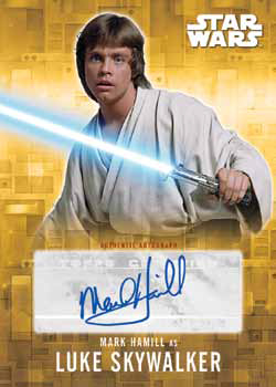 2016 Topps Star Wars Evolution Autograph Gold Hamill