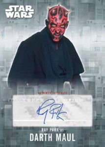2016 Topps Star Wars Evolution Autograph Park