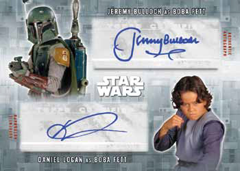 2016 Topps Star Wars Evolution Dual Autograph