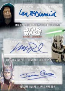 2016 Topps Star Wars Evolution Triple Autograph