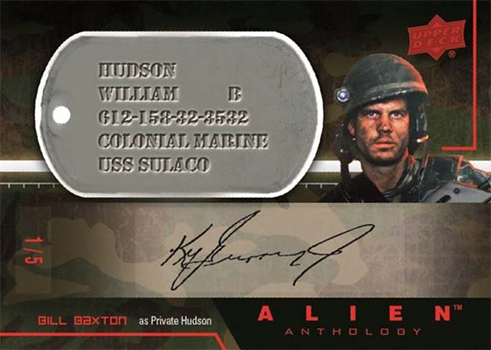 2016 Upper Deck Alien Anthology Autographed Dog Tag