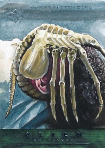 2016 Upper Deck Alien Anthology Sketch Cards Face Hugger