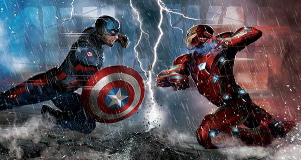 2016 Upper Deck Captain America Civil War header