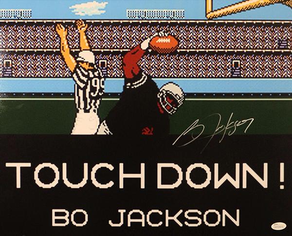 Bo Jackson Tecmo Bowl Signed Photo