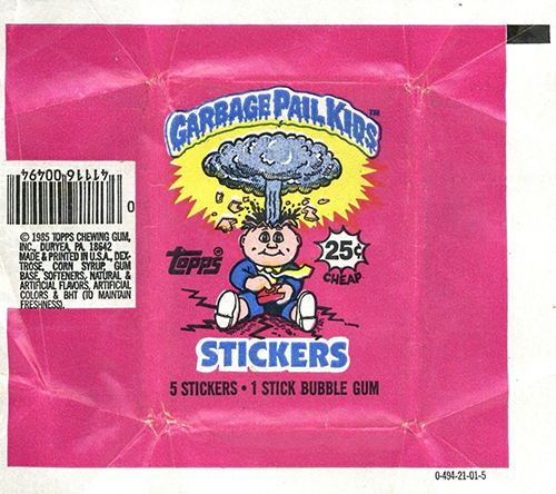 GPK Wrappers Series 1
