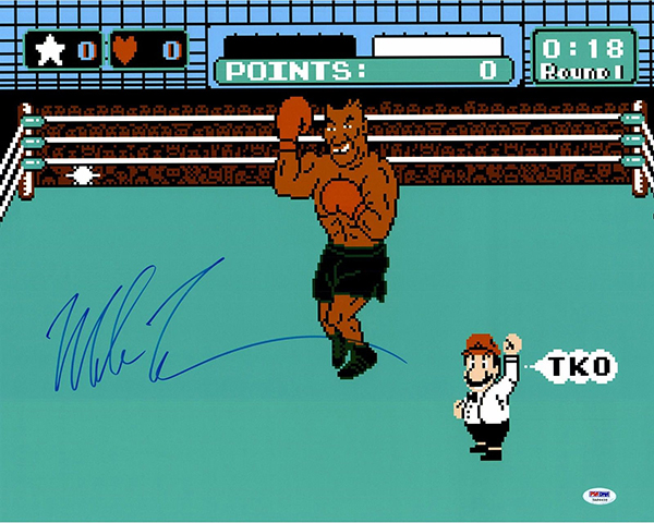 Mike Tyson Punch Out Signed Photo