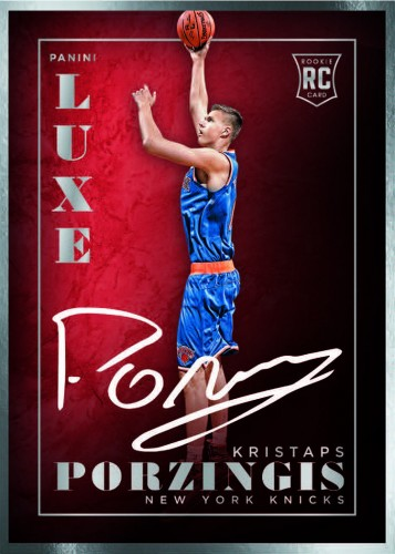 2015-16 Panini Luxe Basketball Porzingis