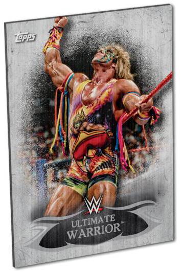 WWE Undisputed Metal Signs Ultimate Warrior