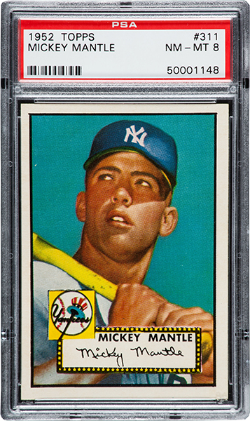 1952 Topps Mickey Mantle PSA 8 Heritage Feb-2016