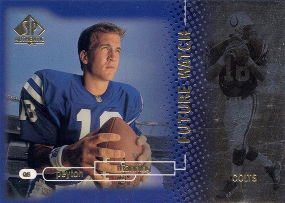 1998 SP Authentic Peyton Manning RC