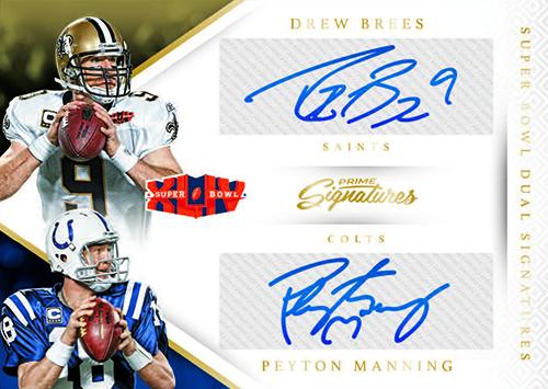 2016 Panini Prime Signatures Football Super Bowl Dual Signatures