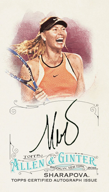 2016 Topps Allen and Ginter Maria Sharapova Autograph