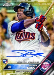 2016 Topps Chrome Baseball Rookie Autograph Gold Refractor