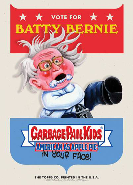 2016 Topps Garbage Pail Kids Candidate Posters Batty Bernie