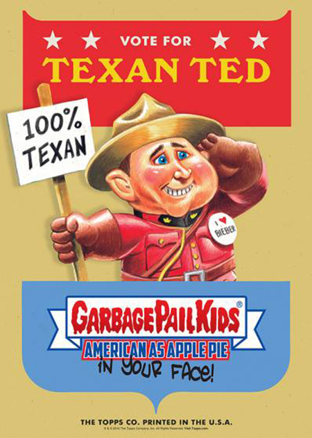 2016 Topps Garbage Pail Kids Candidate Posters Texan Ted gold