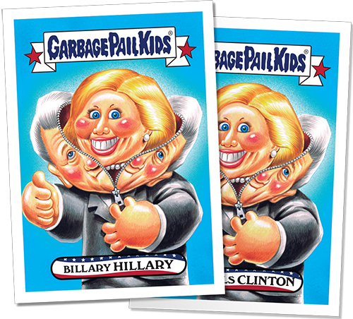2016 Topps Garbage Pail Kids New Hampshire Primaries Edition 8 Hillary Clinton