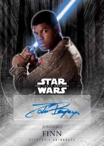 2016 Topps Star Wars The Force Awakens Chrome Autograph