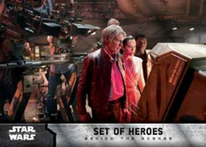 2016 Topps Star Wars The Force Awakens Chrome Behind the Scenes