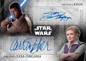 2016 Topps Star Wars The Force Awakens Chrome Dual Autograph