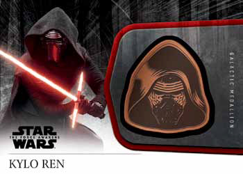 2016 Topps Star Wars The Force Awakens Chrome Medallion