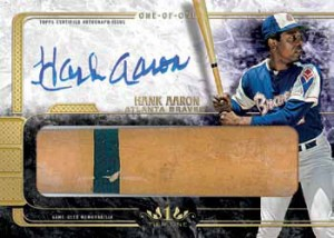 2016 Topps Tier One Baseball Autographed Limited Lumber