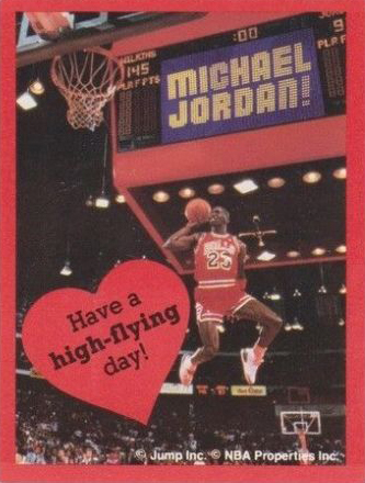 Michael Jordan Valentines Have a High Flying Day