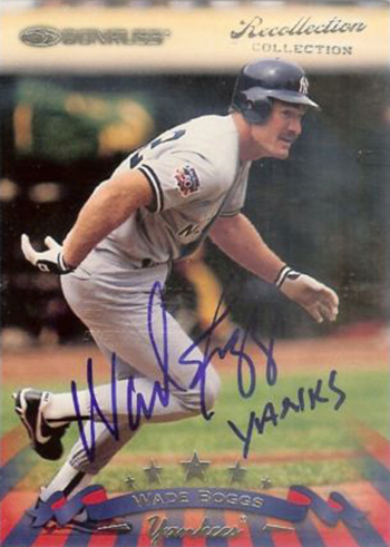 Recollection Collection Autograph Wade Boggs