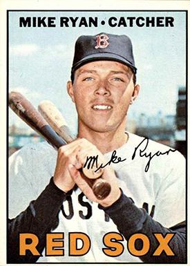 1967 Topps 223 Mike Ryan no dot