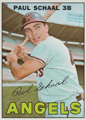 1967 Topps 58 Paul Schaal Bat Natural