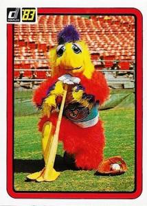 1983 Donruss San Diego Chicken