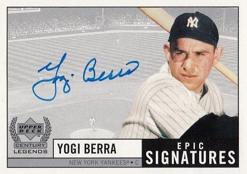 1999 Upper Deck Century Legends Epic Signatures Yogi Berra