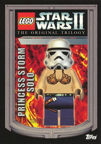 2006 Topps LEGO Star Wars II 12 Princess Storm Solo
