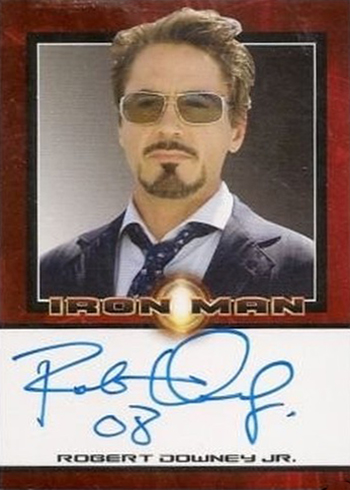 2008 Iron Man Robert Downey Jr Autograph