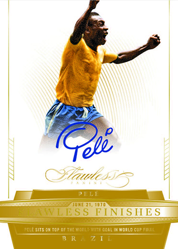 2016 Panini Flawless Soccer Flawless Finishes Gold